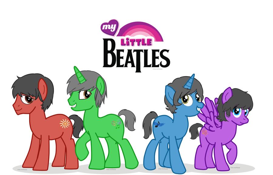 My Little Beatles Wallpaper by missmagikarp