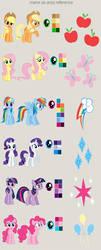 MLP:FiM Mane Six Artist Reference by missmagikarp