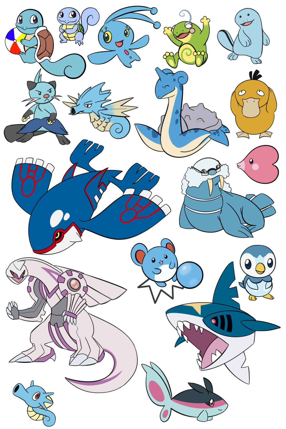 Pokemon water type the image kid has it for All types of water