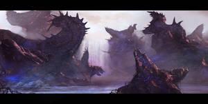 Alien Landscape by DanielDevilish