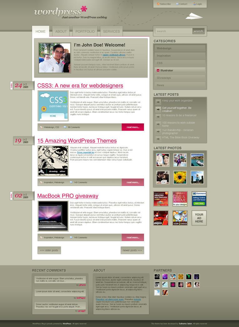 Wordpress Theme by sALuUm