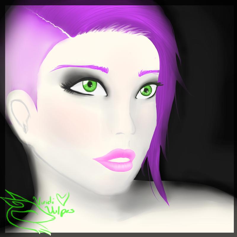 Purple Hair by ViridiVulpes