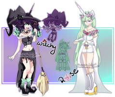 CLOSED| Rose + Witchy Unicorn adopts by Rikos-Adopts