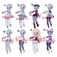 1/8 OPEN|100pts Outfit Adopts by Rikos-Adopts