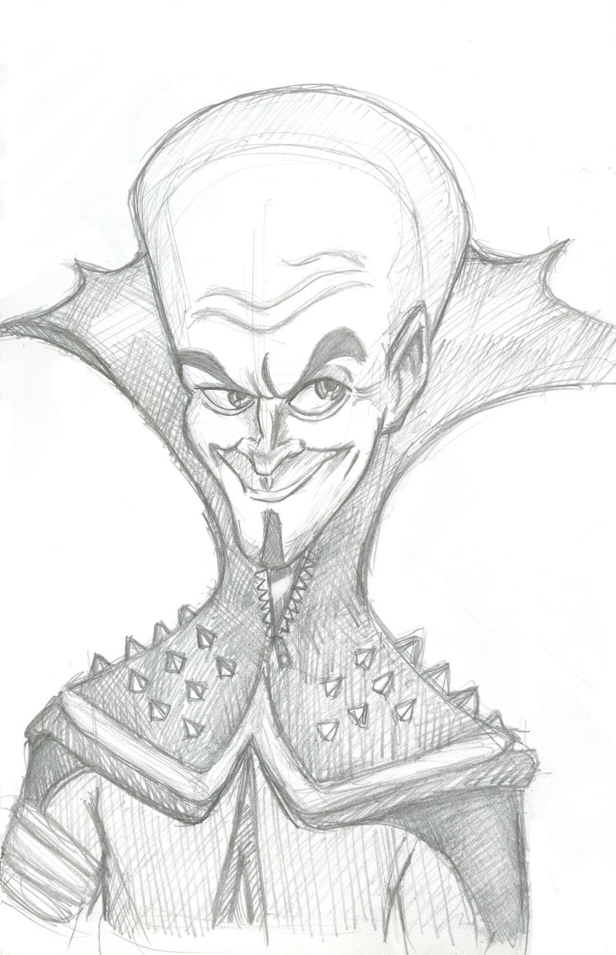 Megamind Sketch by crazyfroggster8 on deviantART
