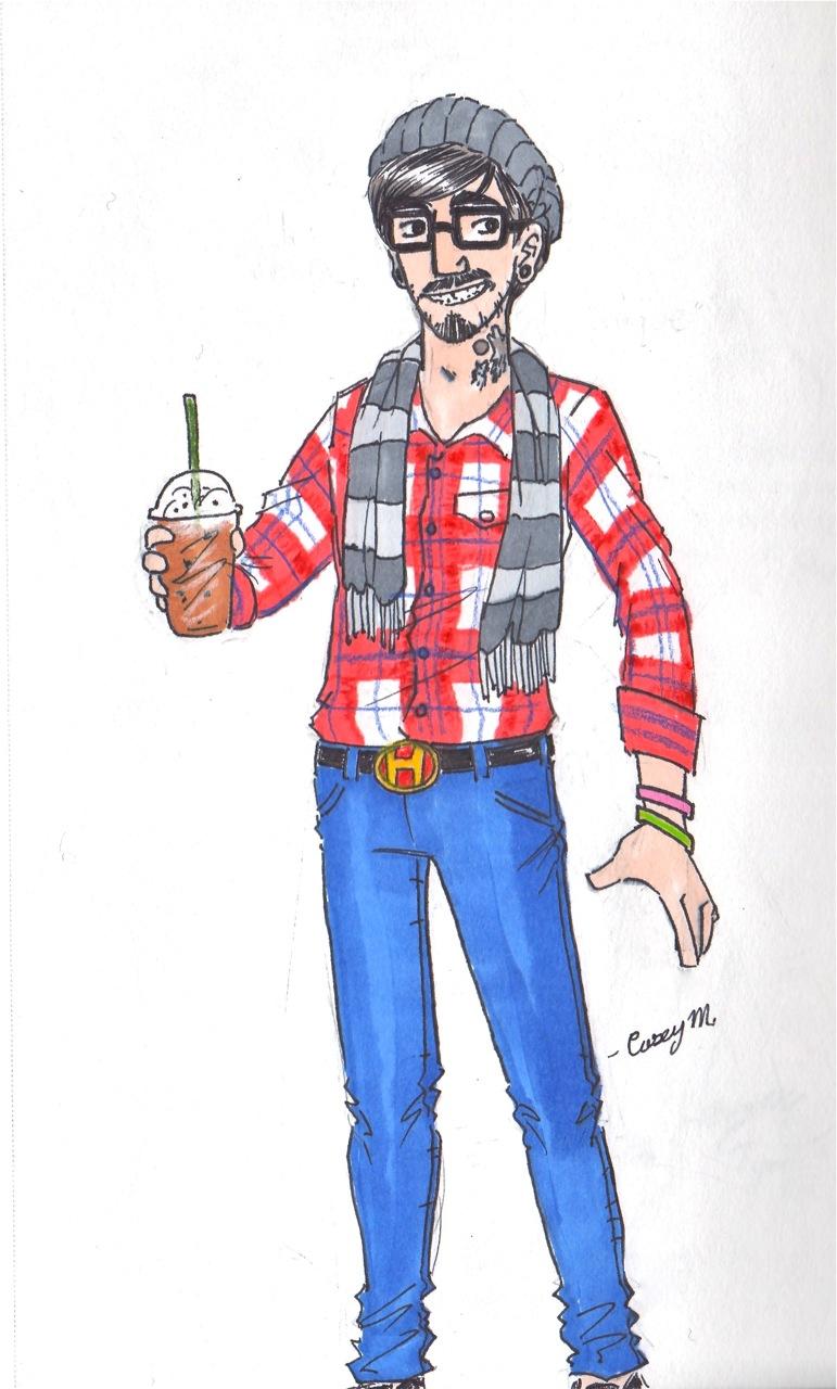 Hipster Man by arystar