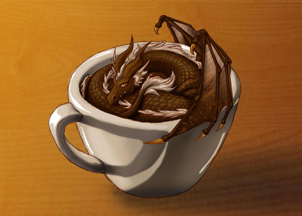 coffee dragon by fiannavalkyrie on deviantart