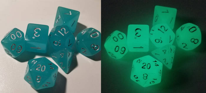 Glow Dice: Blue