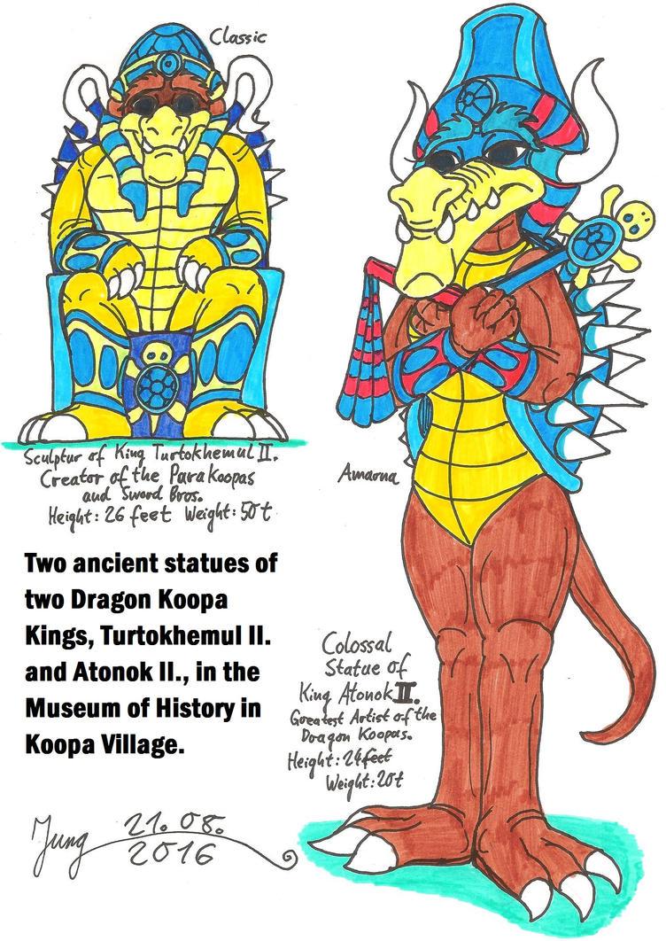 Turtokhemul II. and Atonok II. by HeinztheBlueGiant