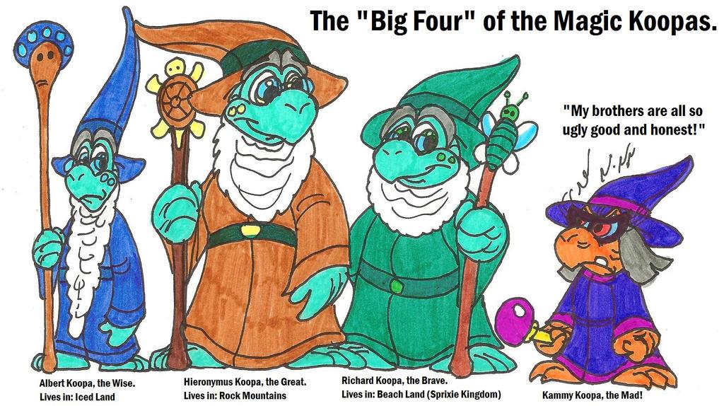 The Big Four of the Magic Koopas by HeinztheBlueGiant