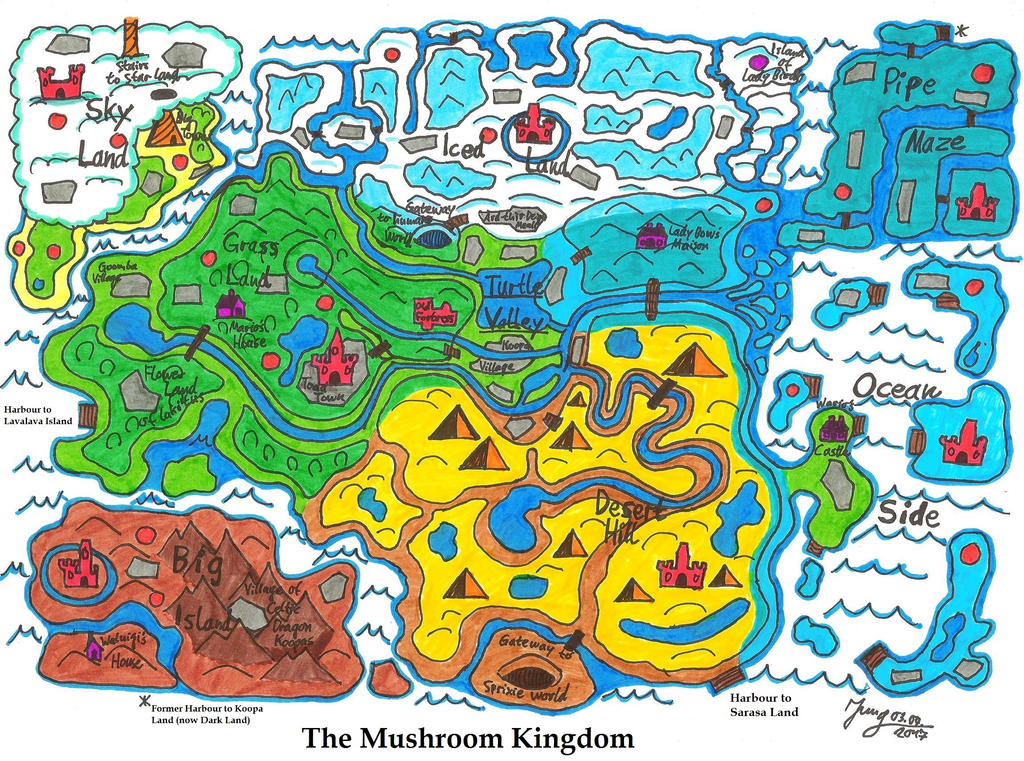 The Map Of The Mushroom Kingdom By Heinzthebluegiant On Deviantart