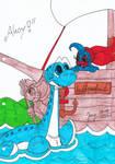 Uisceasnadh with Flipper by HeinztheBlueGiant