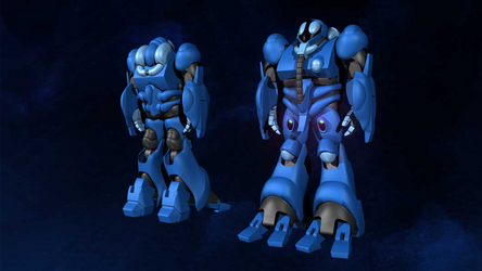 Blue Bioroid From Robotech