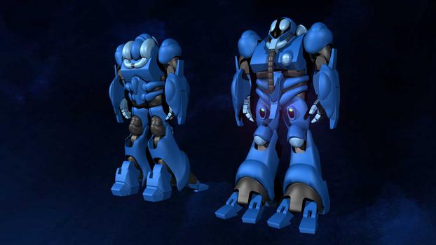 Blue Bioroid From Robotech