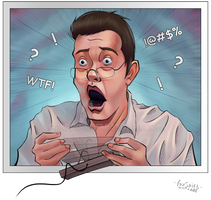 Angry Video Game Nerd - Comic book style by FoxShift