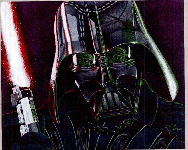 Darth Vader Vs Yoda by JohnHLynch