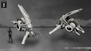 Fighter nebula 3D concept presentation