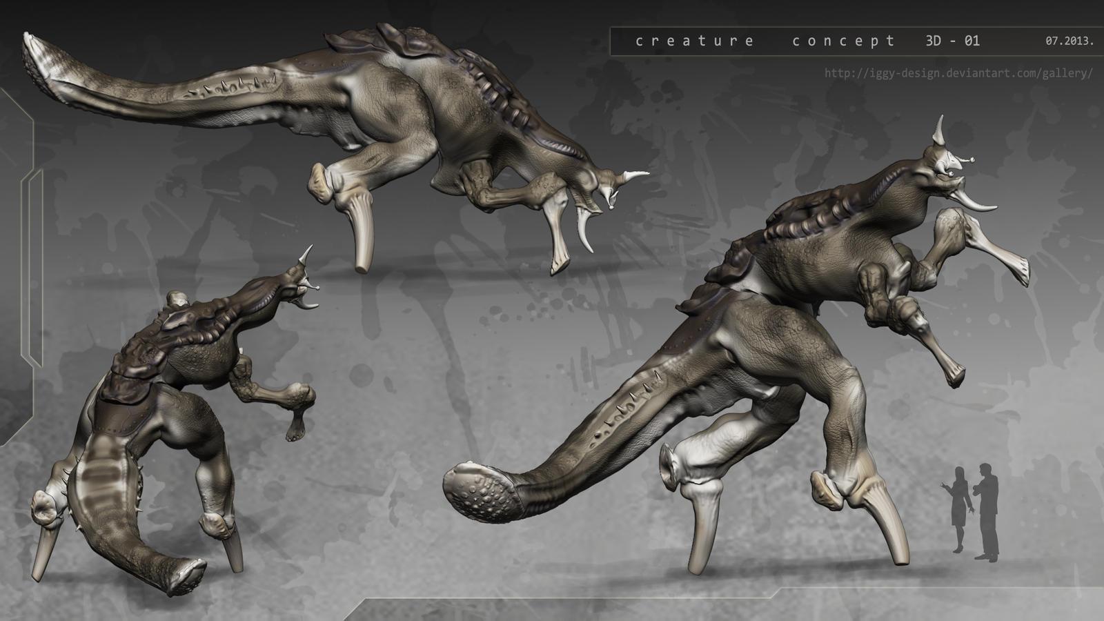 Creature 3d Concept 01 By Iggy Design On Deviantart