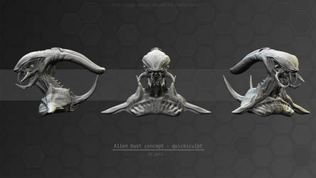 Alien bust concept by Iggy-design