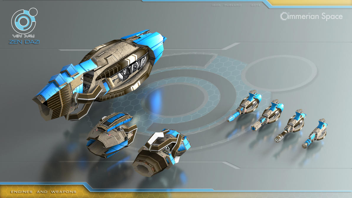 Zen Dazi engines and weapons by Iggy-design