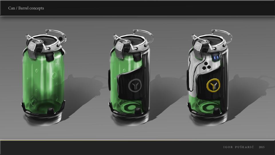 Sci-Fi Barrels / Can  ccpt by Iggy-design