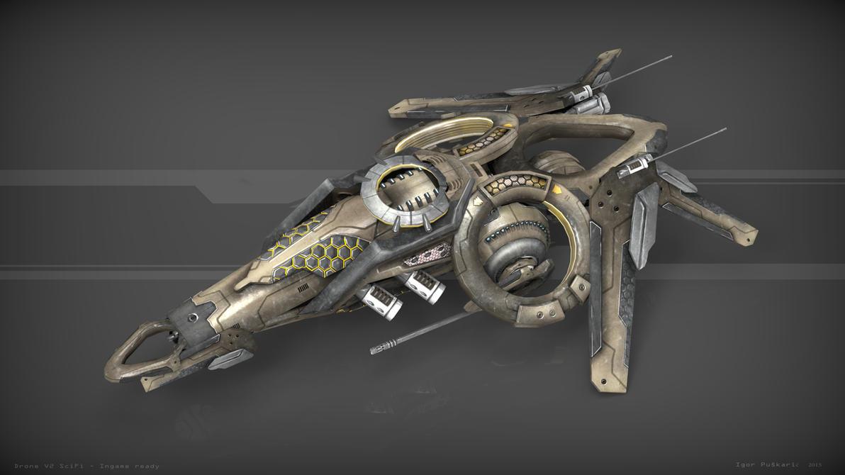 Drone V2 SciFi by Iggy-design