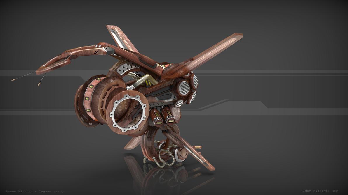 Drone V3 Wood back by Iggy-design