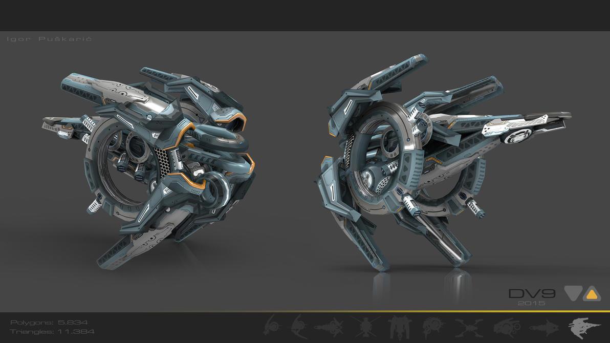 Drone V9 Cybertech by Iggy-design
