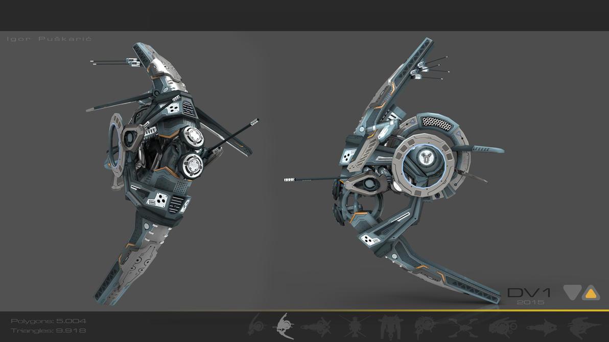 Drone V1 Cybertech by Iggy-design