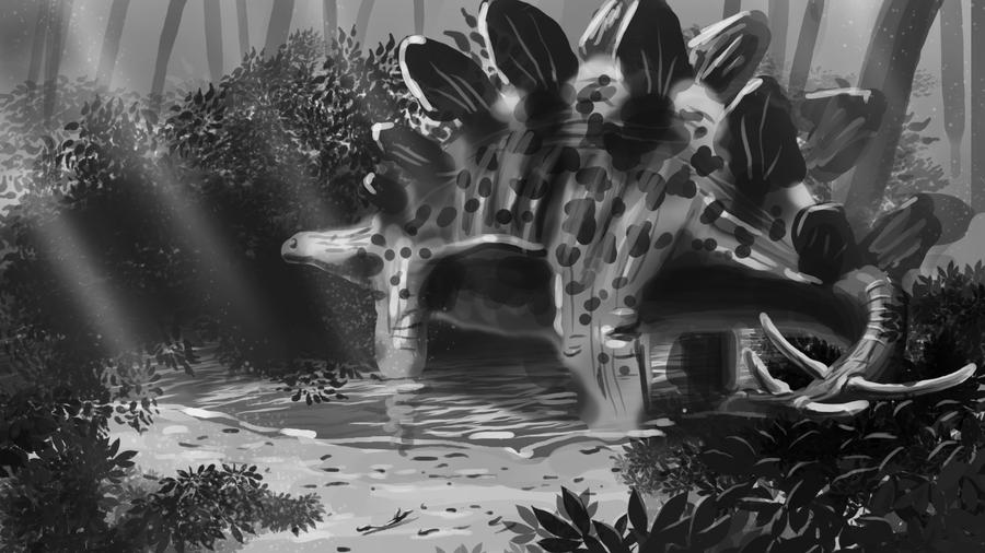 Stegosaurus speedpaint by Iggy-design
