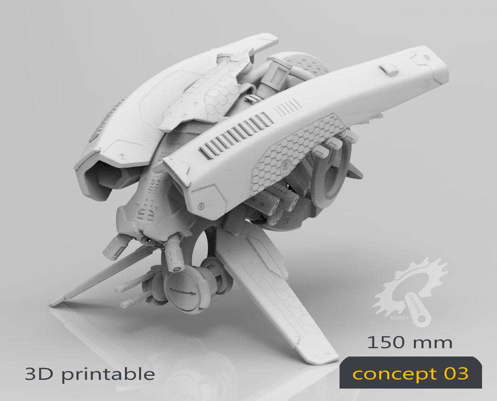 Drone Concept 03 3dprintable By Iggy Design On Deviantart