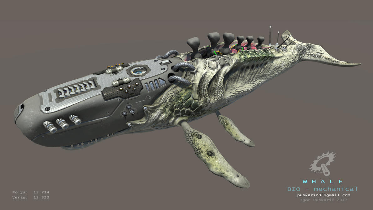Biomechanical Whale - animated by Iggy-design