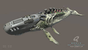 Biomechanical Whale - animated by Iggy-design
