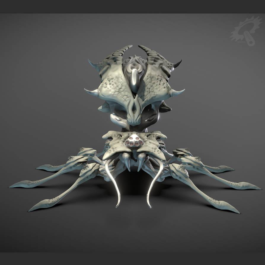 Skull Spider Machina front by Iggy-design