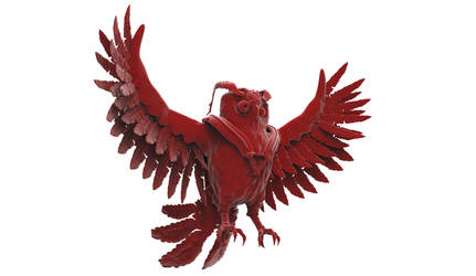 Owl Machina - Red edit