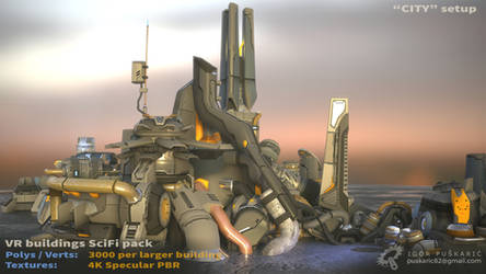 VR SciFi Buildings - complex 01