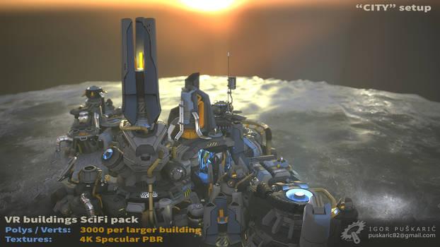 VR SciFi Buildings - complex 02