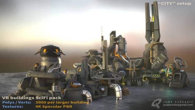 VR SciFi Buildings - complex 03