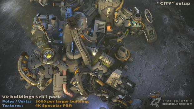 VR SciFi Buildings - complex 04