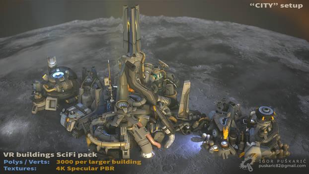 VR SciFi Buildings - complex 05