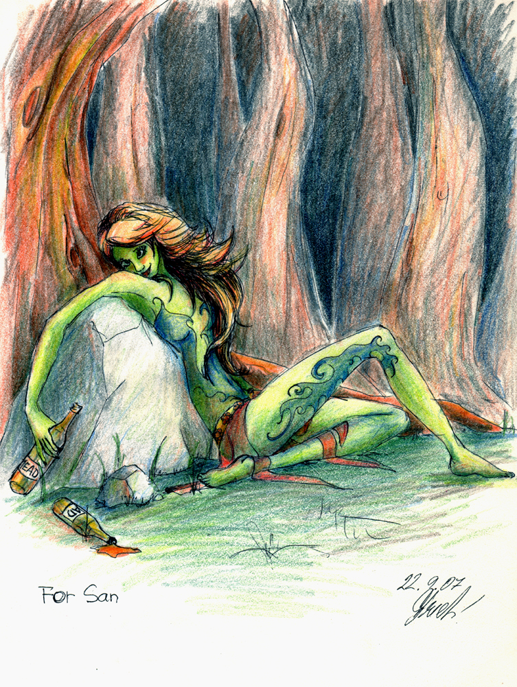 Drunk Dryad by Lyantasse