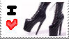 high heels love stamp by saikochan