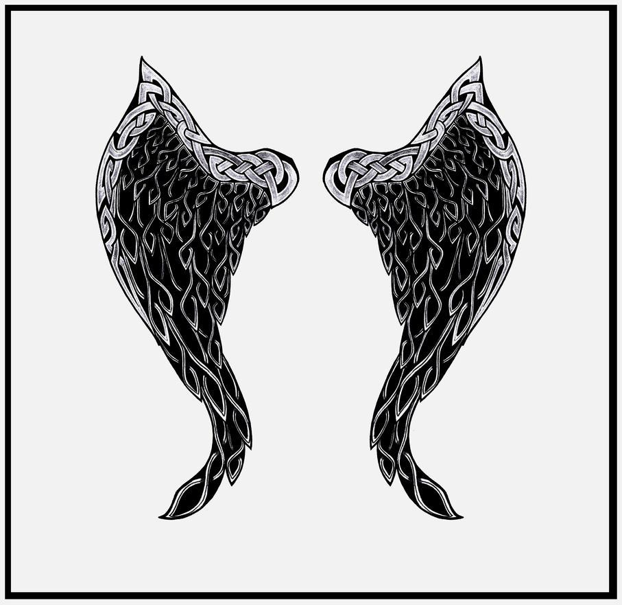 celtic wings by shepush on deviantart. Black Bedroom Furniture Sets. Home Design Ideas