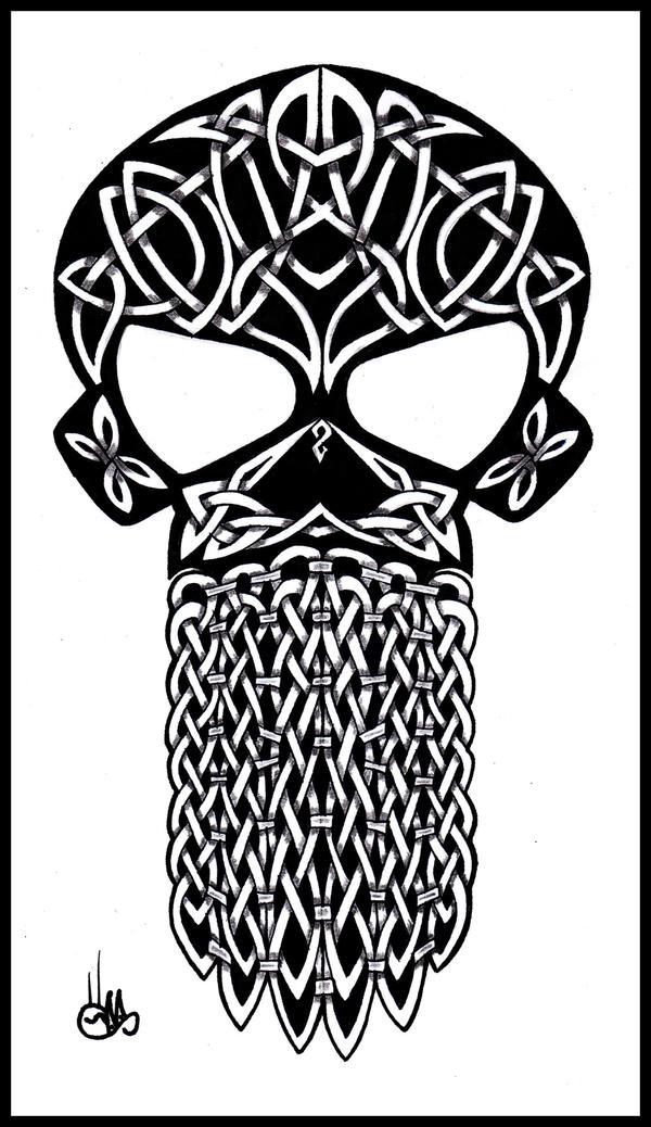Celtic skull by shepush on deviantart for Celtic skull tattoo