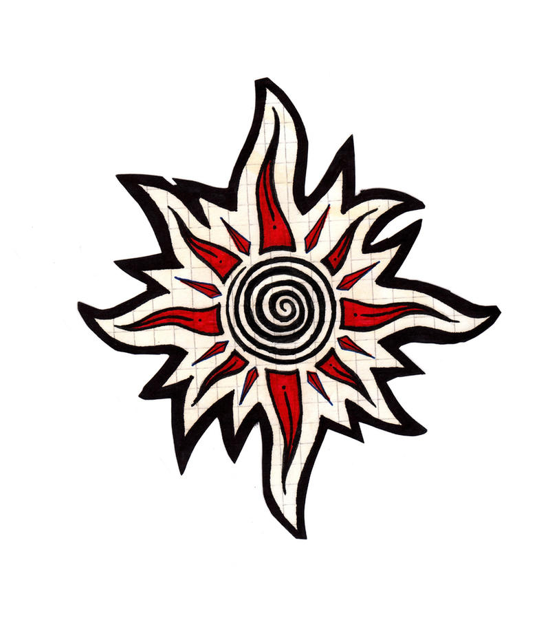 Tribal Sun Tattoo Design Picture 2