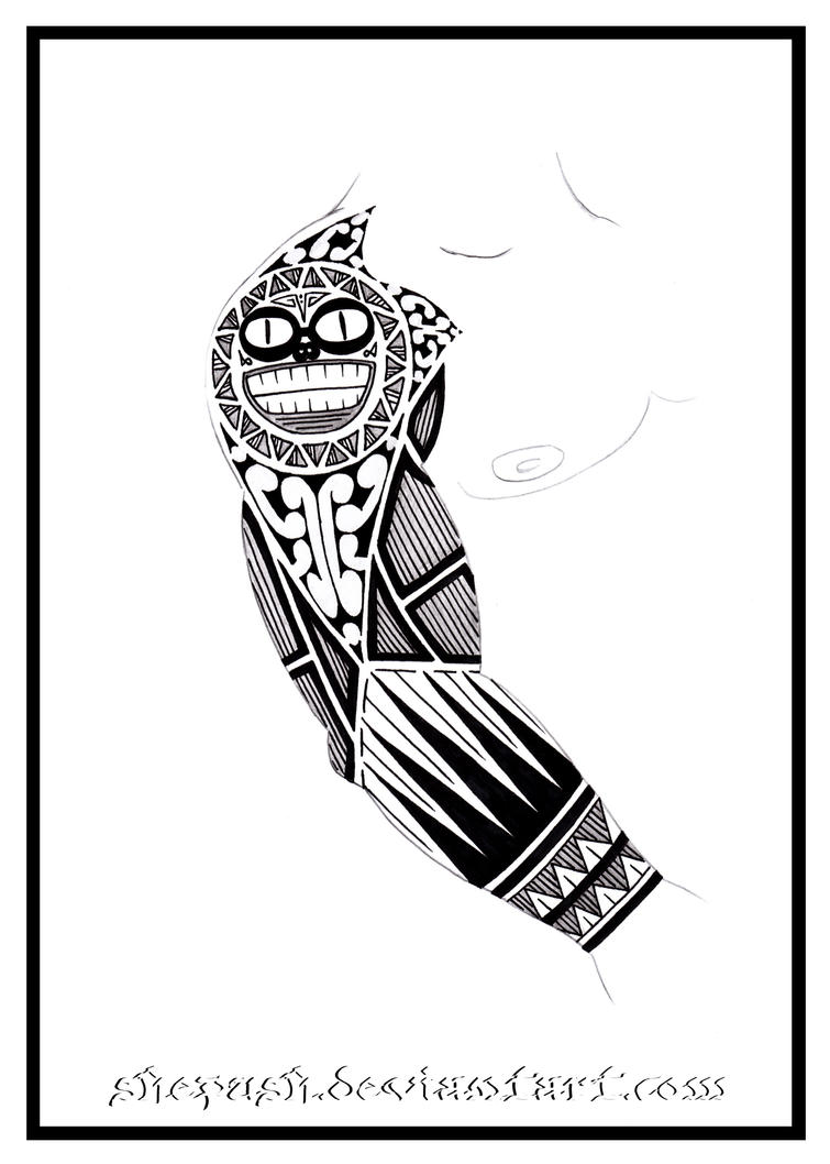 Full sleeve tattoo 7 by shepush on deviantart for Forearm tattoo sketches