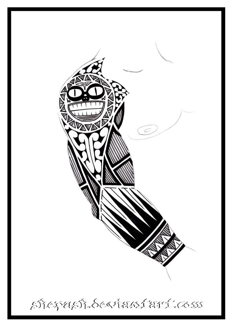 full sleeve tattoo 7 by shepush on deviantart. Black Bedroom Furniture Sets. Home Design Ideas