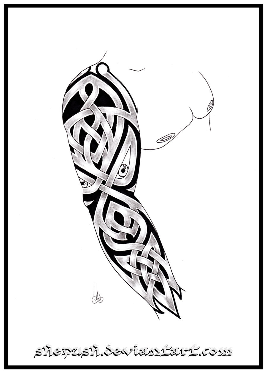 designing a sleeve tattoo template - full sleeve tattoo 8 by shepush on deviantart