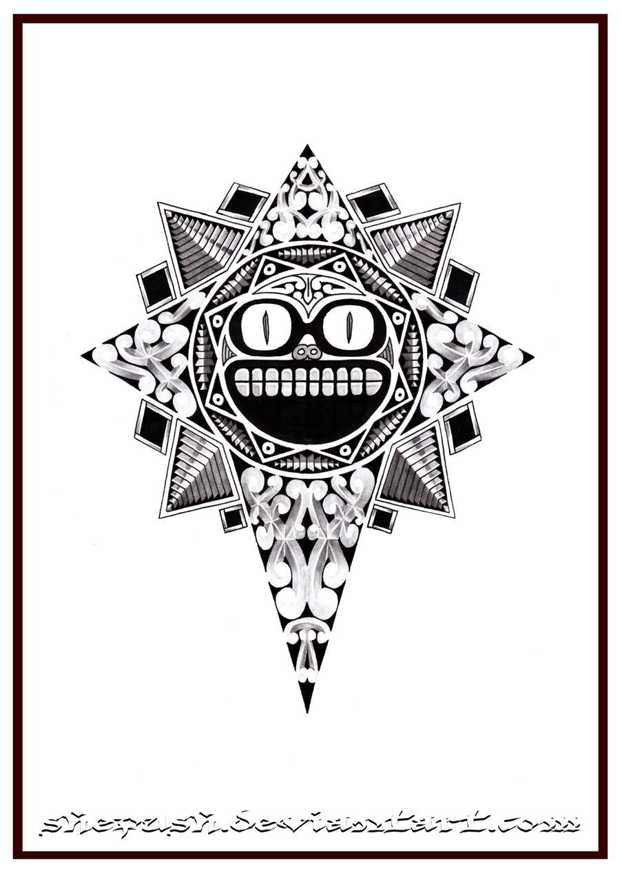 Maori Sun Tattoo: Maori Sun By Shepush On DeviantArt