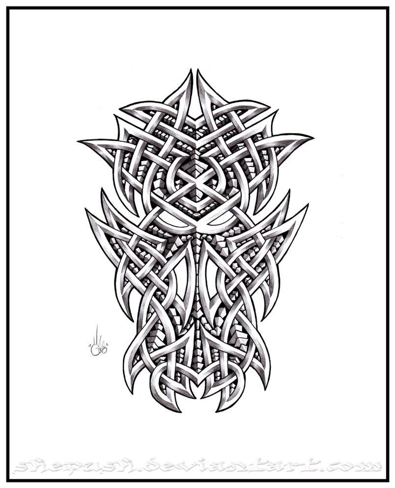 celtic dragon head by shepush on deviantart. Black Bedroom Furniture Sets. Home Design Ideas